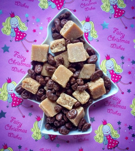 Fabulous vegan fudge and chocolate raisins!