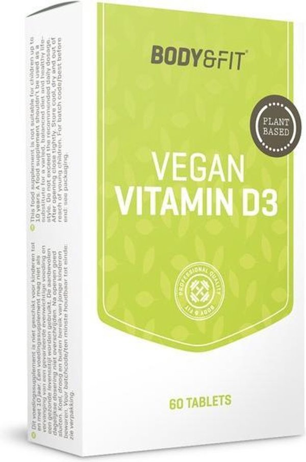 Body & Fit Vegan Vitamine D3 - 60 tabletten