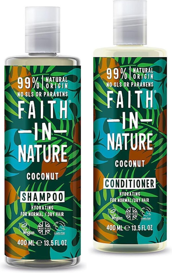 Faith in Nature Biologische Ecologische VEGAN Shampoo & Conditioner Coconut