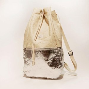 Kaliber Fashion - Backpack Pinatex natural / silver - Rugzak - Rugtas - Vegan - Zilver