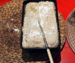 lightly slash top of loaf and sprinkle with flour...or seeds....