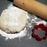 gently roll out the scone dough