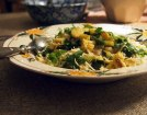Italian Risotto with sautéed steamed vegetables, grated vegan cheese and fresh basil