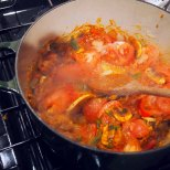 add sliced tomatoes