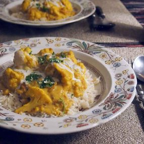 cauliflower korma- vegan - for 2