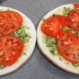 slice and layer fresh tomatoes