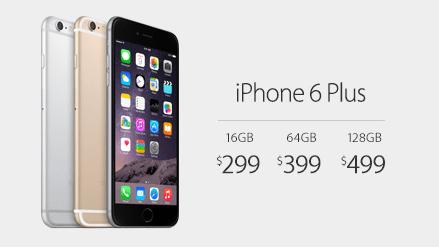 iPhone 6 Plus の価格