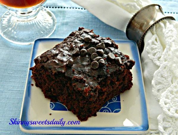 vegan chocolate zuchinni-brownies