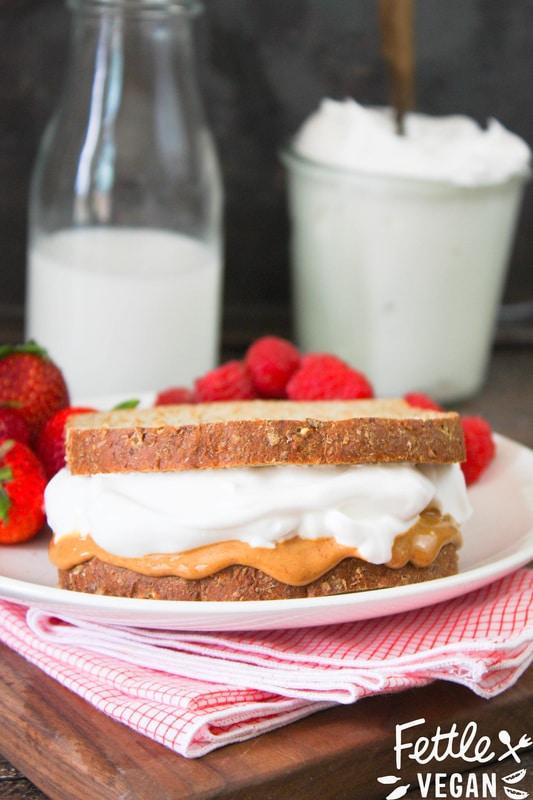 Vegan Fluffernutter Sandwich