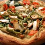 Homemade Vegan Pizza with Creamy Avocado Sauce