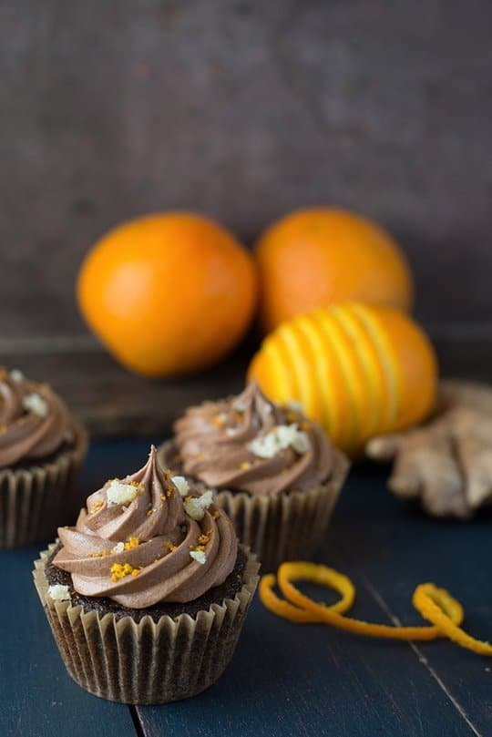 Vegan Choc Orange Ginger Cupcakes