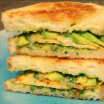 Vegan Pesto Tofu Avocado Sandwich