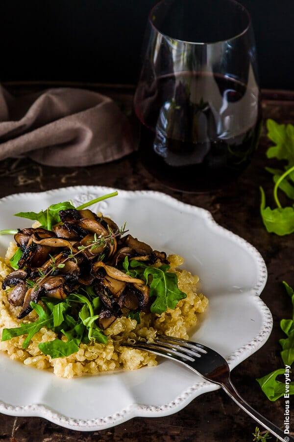 Thyme-and-Mushroom-Quinoa-Risotto-Recipe