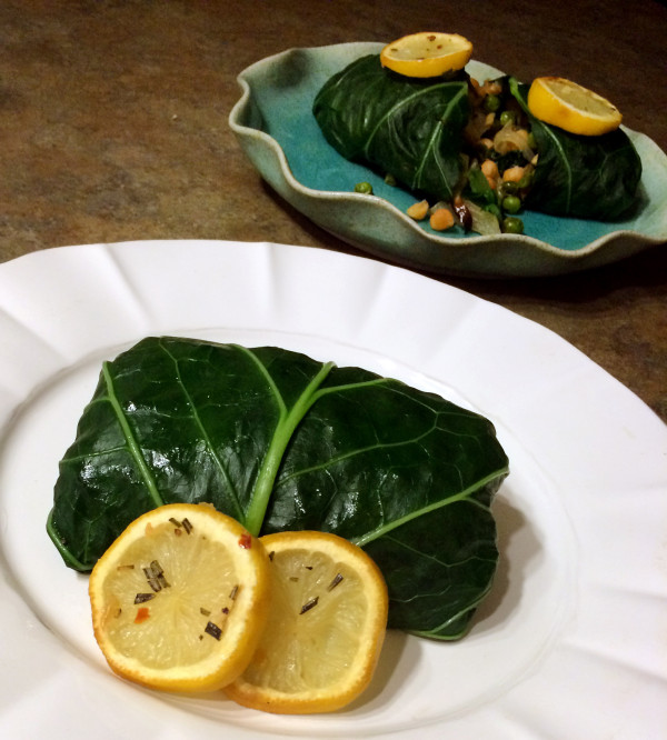 Rosemary, Potato & Chickpea Collard Green Wraps
