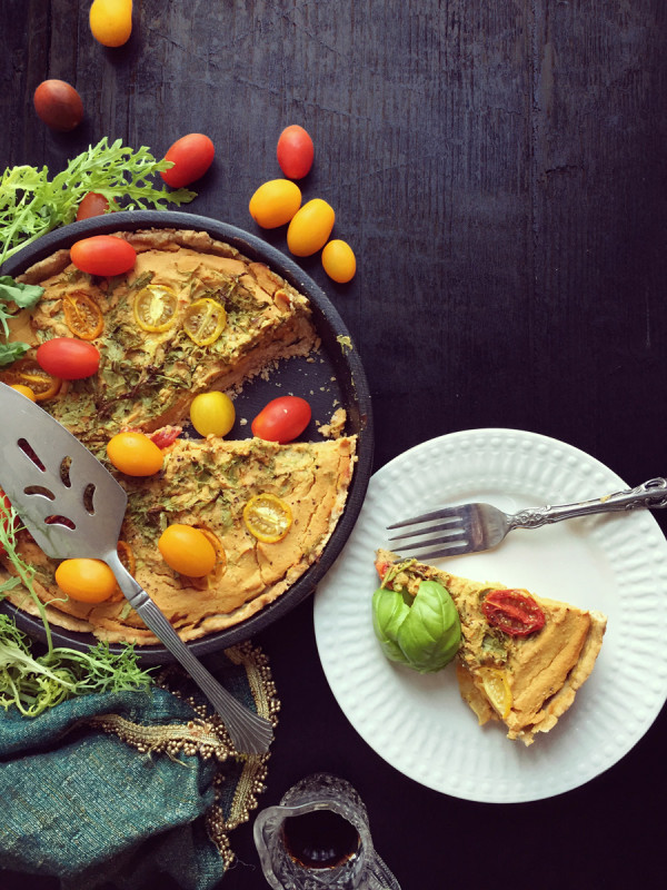 Savory Pumpkin Quiche with Earl Grey Crust