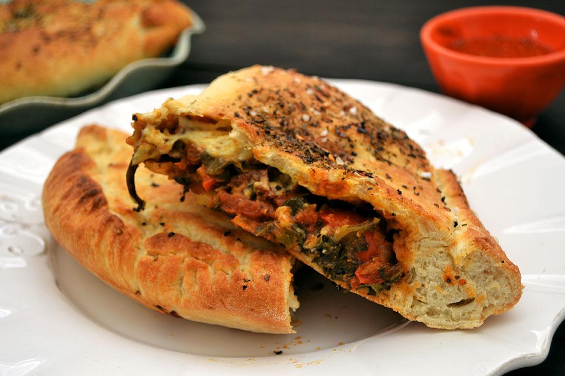 Vegan Spinach-Tomato Calzone