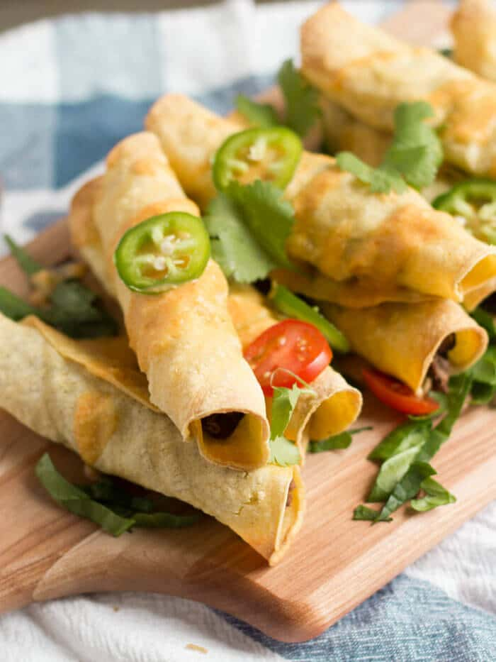 Black Bean Taquitos with Pumpkin Coconut Dipping Sauce