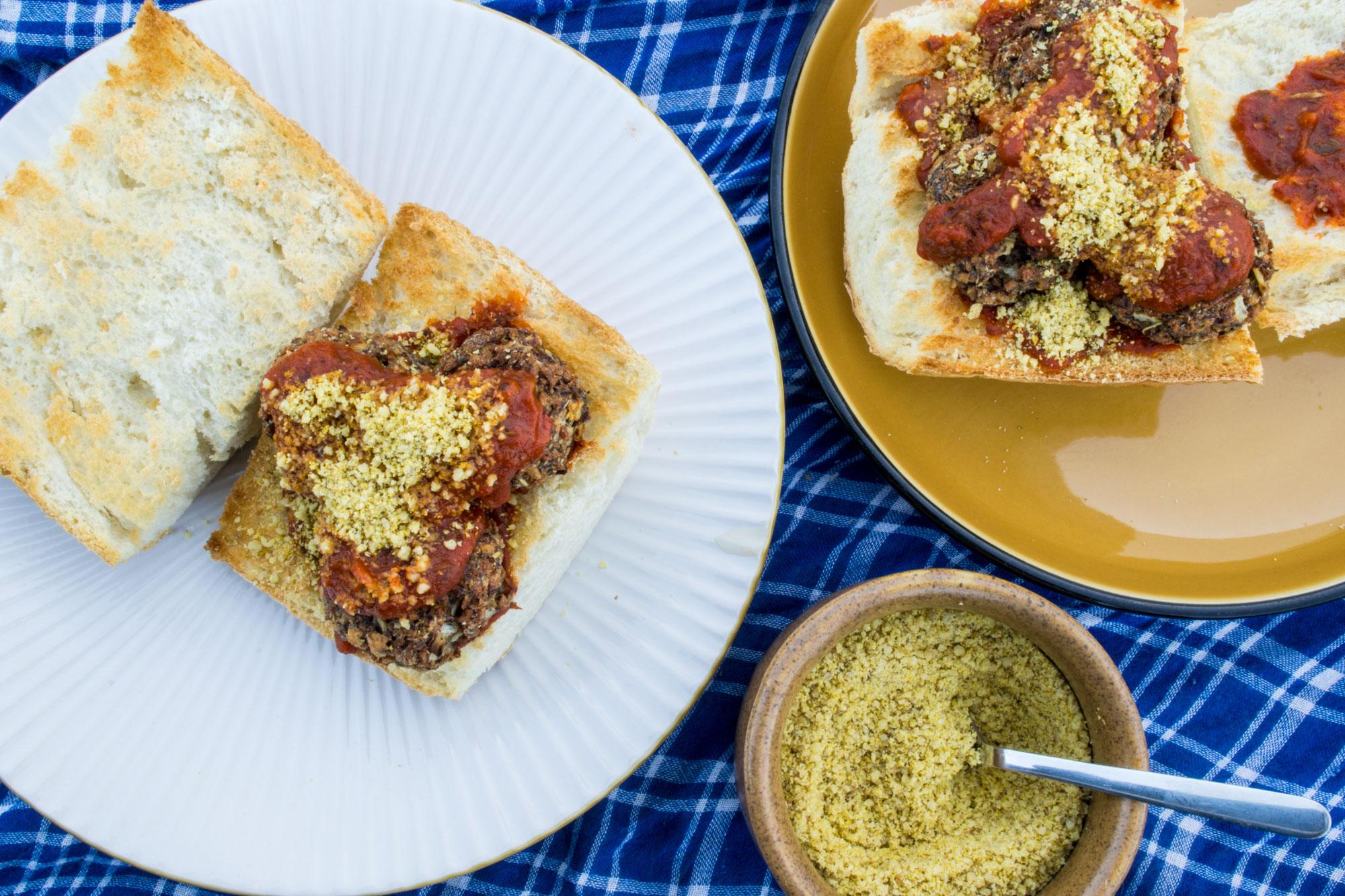 Vegan Meatball & Parmesean Sub