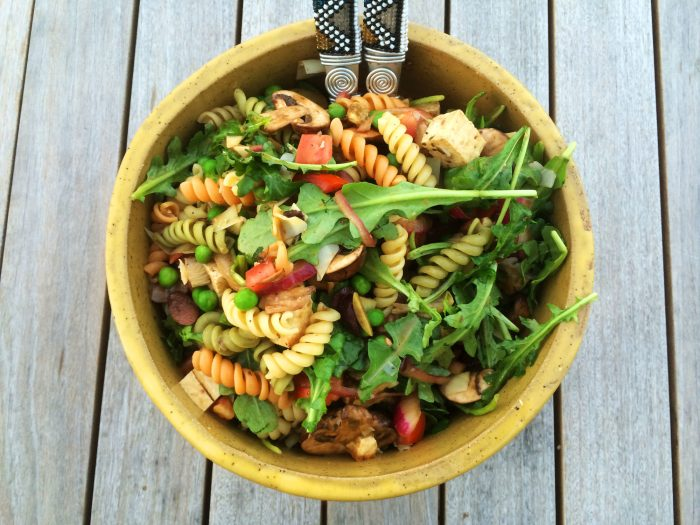 Vegan Pasta Salad with Marinated Tofu