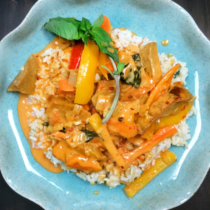vegan thai red curry recipe