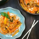 "Thai Red Curry w/ ""Chicken,"" Sweet Peppers & Carrots"