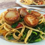 King Oyster Mushroom Scallop Scampi with Linguine