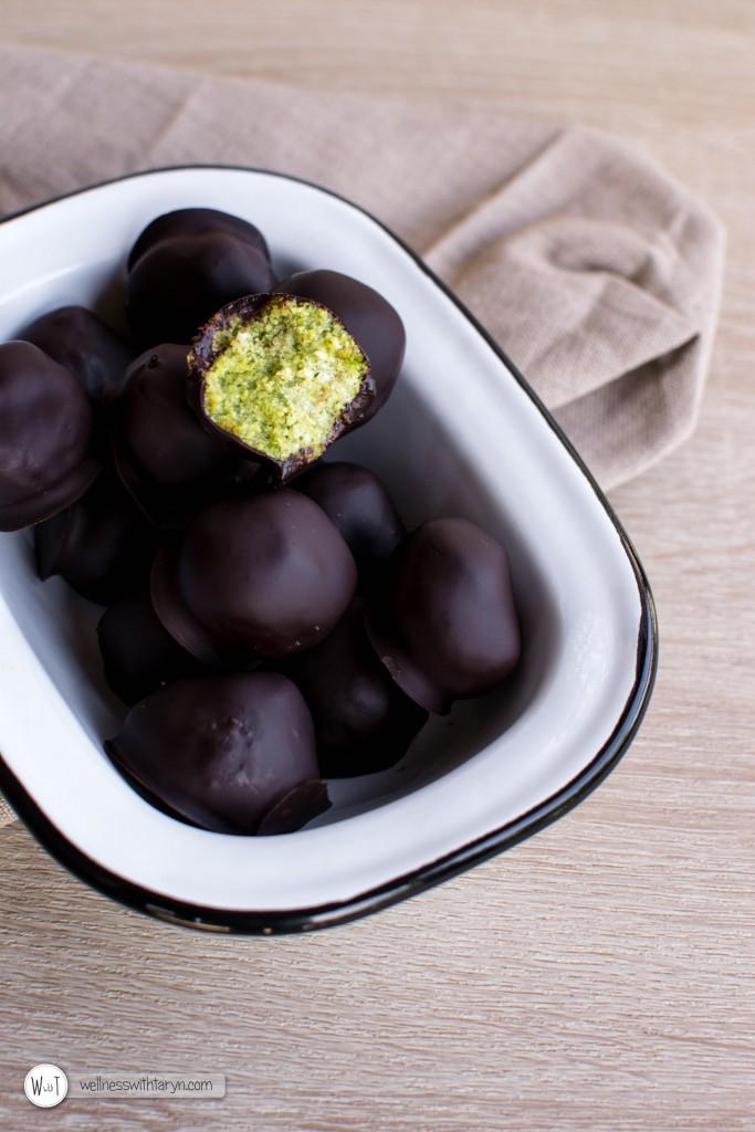 Peppermint Matcha Truffles