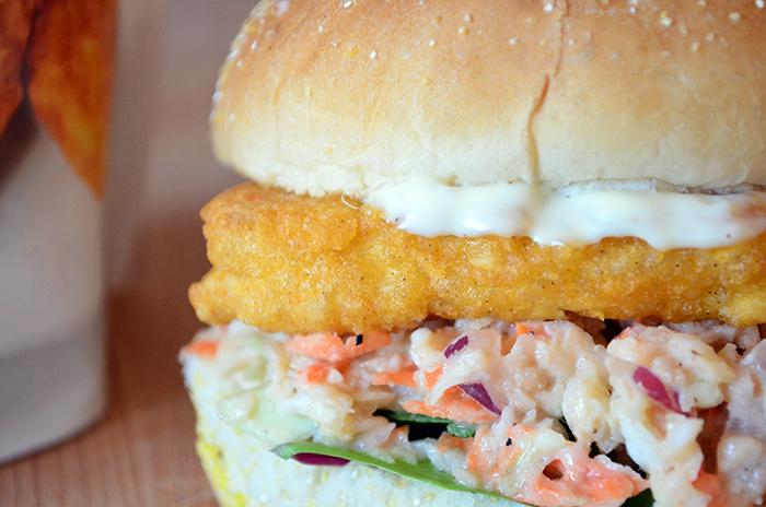 Vegan Fish Fillet Sandwich