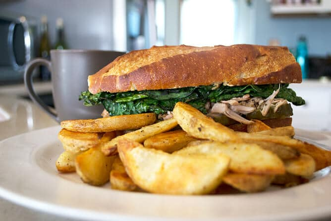 Cuban Vegan Sandwich with Jackfruit and Kale