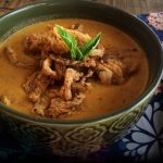 Roasted Vegetable Soup with Crispy Onion Topping