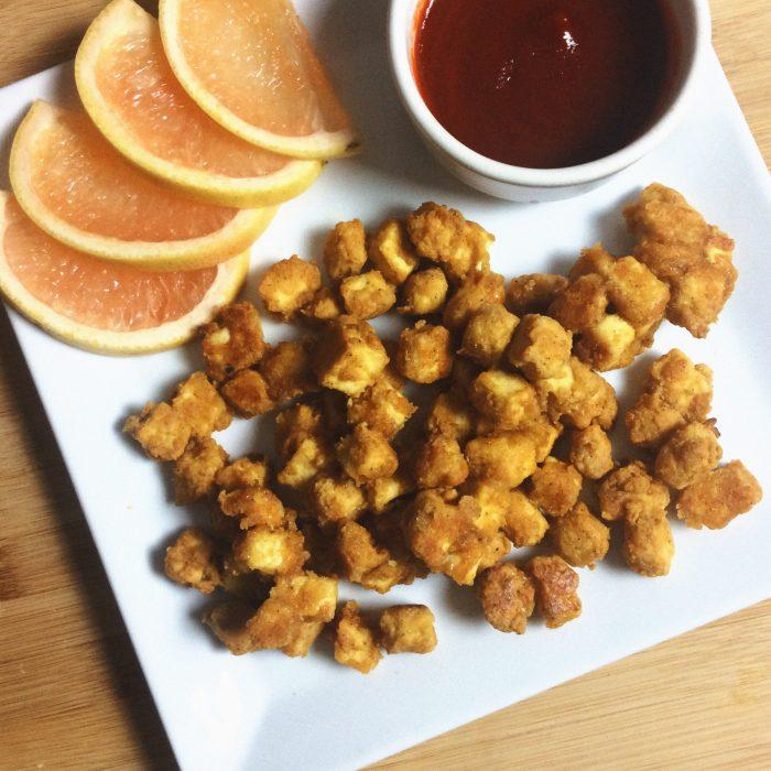 potato crusted tofu gluten free vegan recipe