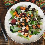 Roasted Butternut Squash Salad with Vegan Feta from N.D.E. Cookbook