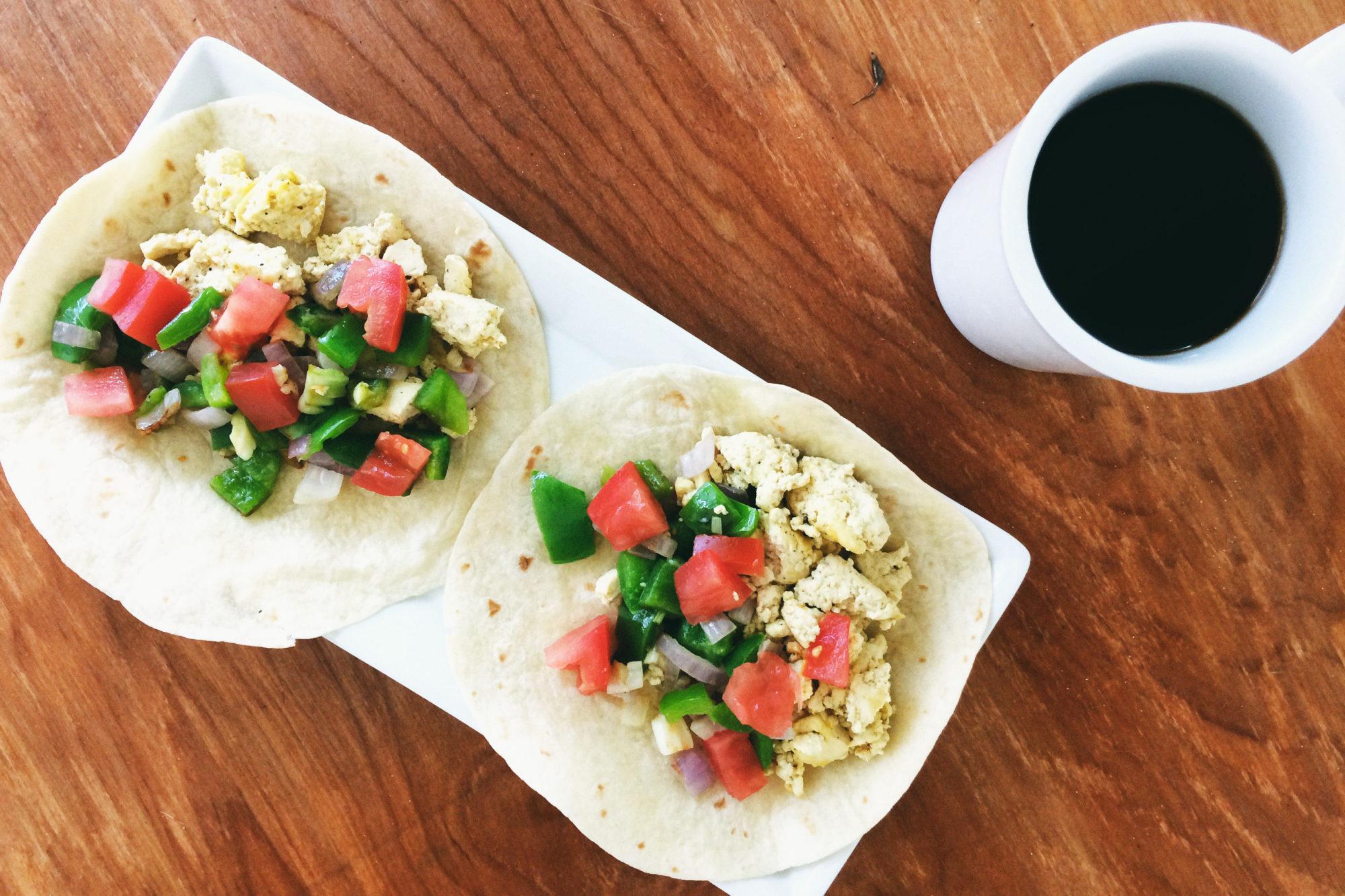 Easy Breakfast Tofu Tacos