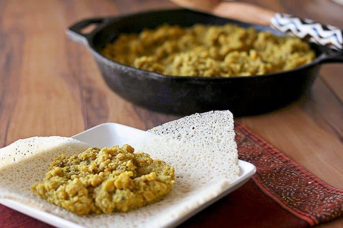Kik Alicha (Ethiopian yellow split pea stew)