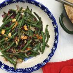 Roasted Green Beans with Cranberries and Almonds