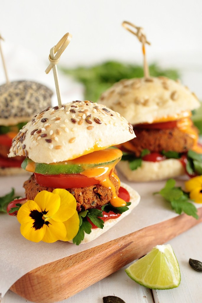 KIDNEY BEAN AND PUMPKIN SEED SLIDERS