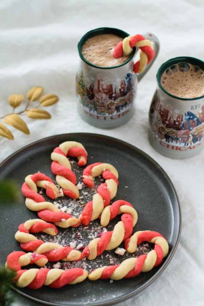 VEGAN PEPPERMINT CANDY CANE COOKIES