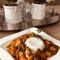 Pompoen Curry met Kastanjechampignons