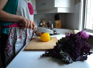 Cutting in the kitchen