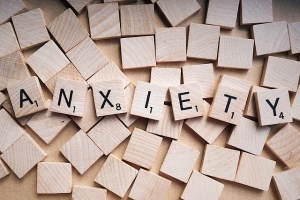 Anxiety in Scrabble letters