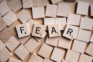 Fear in Scrabble letters