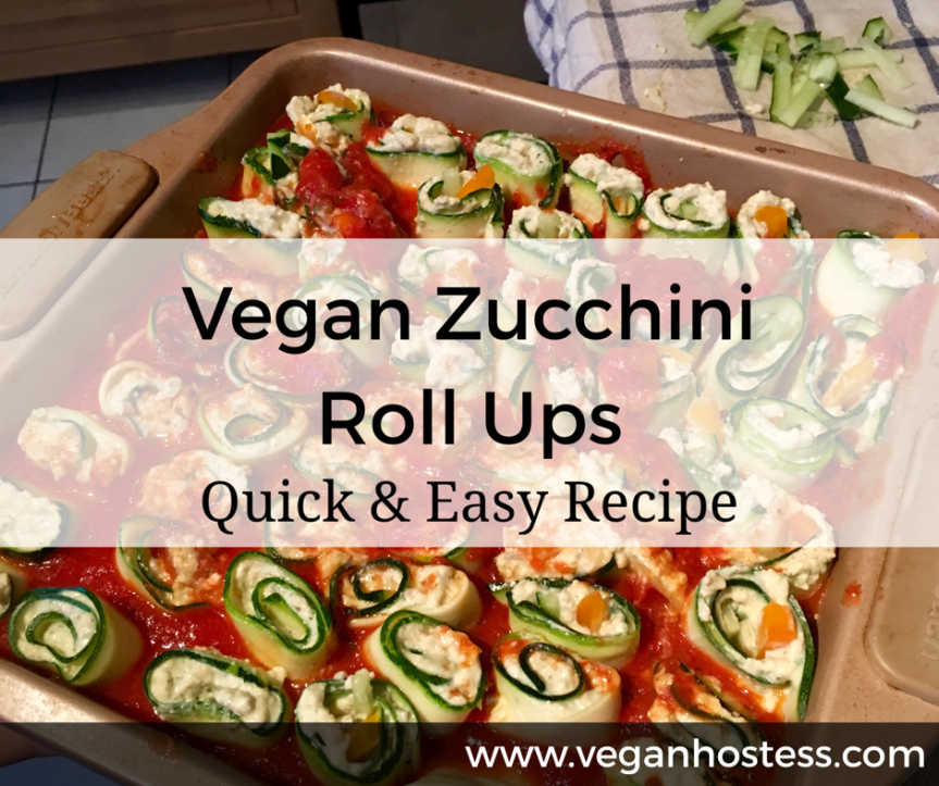 Recipe: Vegan Zucchini Roll Ups