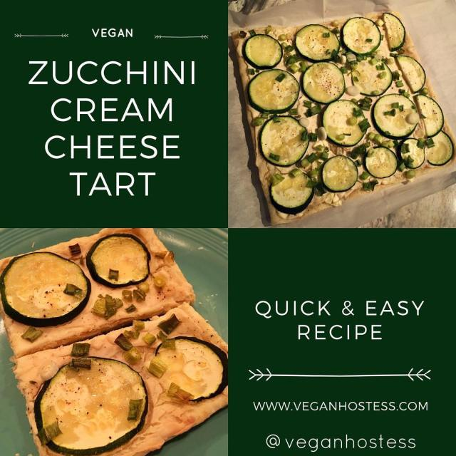 New recipe for vegan Zucchini Cream Cheese Tart Link inhellip