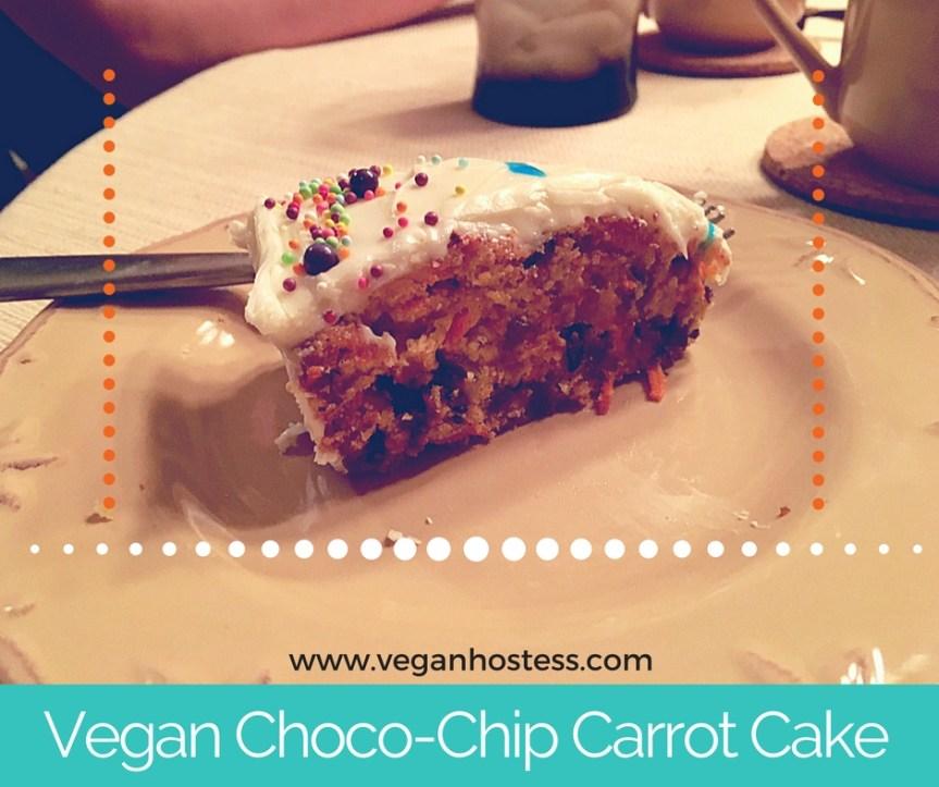 Recipe: Vegan Chocolate Chip Carrot Cake