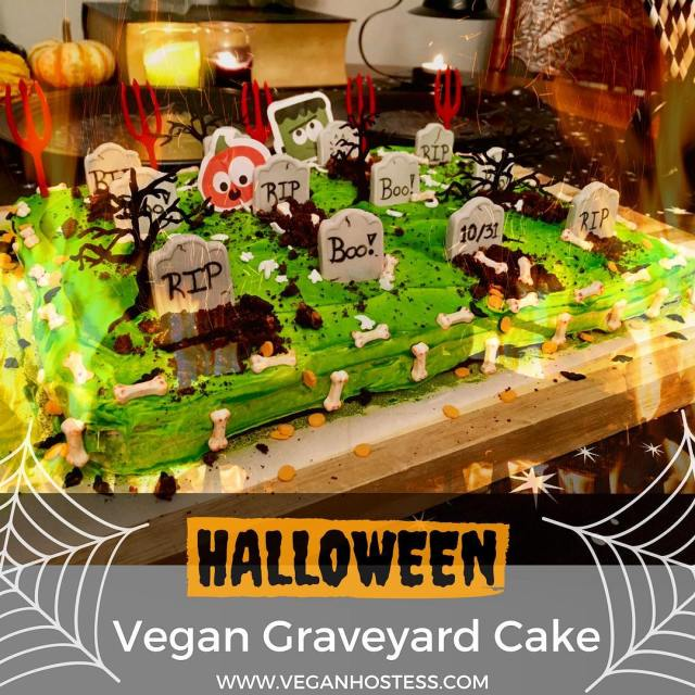Happy almost Halloween New recipe for a Spooktacular Graveyard Cake!hellip