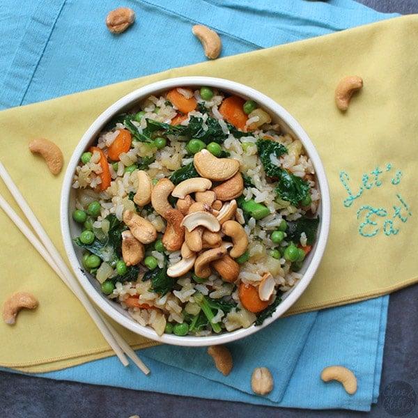 fried rice Easy Vegan Dinner Recipes