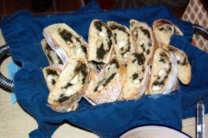 Spinach and Vegan Mozzarella Stuffed Bread