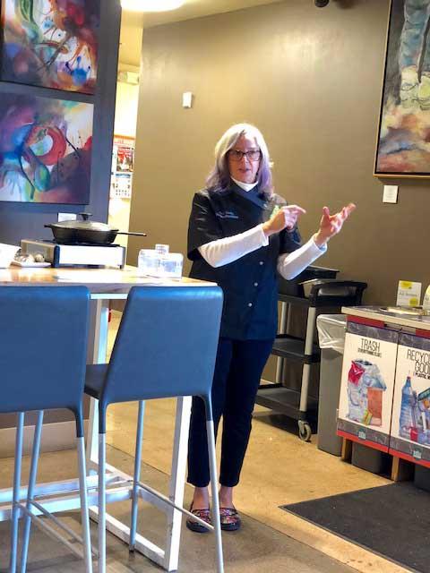Linda teaching the ways of the Vegan
