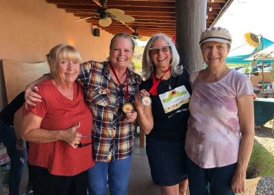 Patti Bowers (Server for Debbie Brown), Debbie Brown, Linda Voorhis (Veganification / Verde Valley Vegans) and Rose Campisi (Sous Chef with Linda Voorhis)