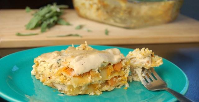 sütőtökös lasagne